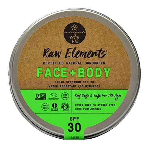 Raw Elements plastic free reef safe sunscreen