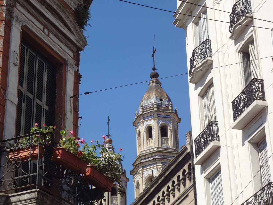 Church steeple in Palermo, Buenos Aires
