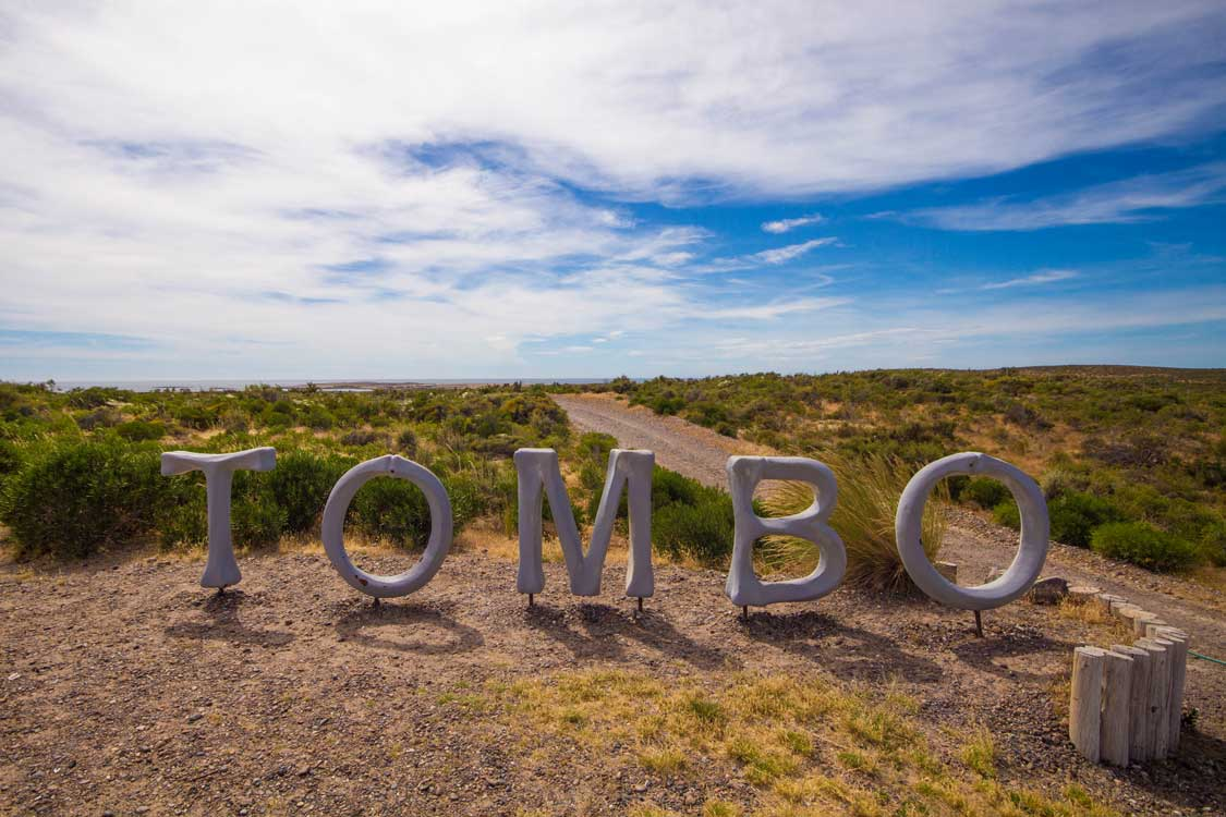 Sign for the Punta Tombo Wildlife Reserve in Argentina