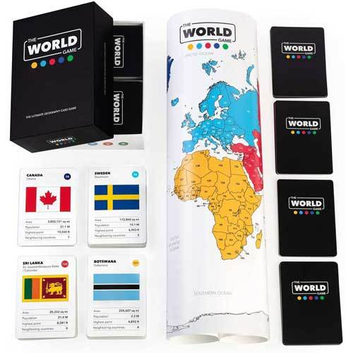 The world game travel-themed board game