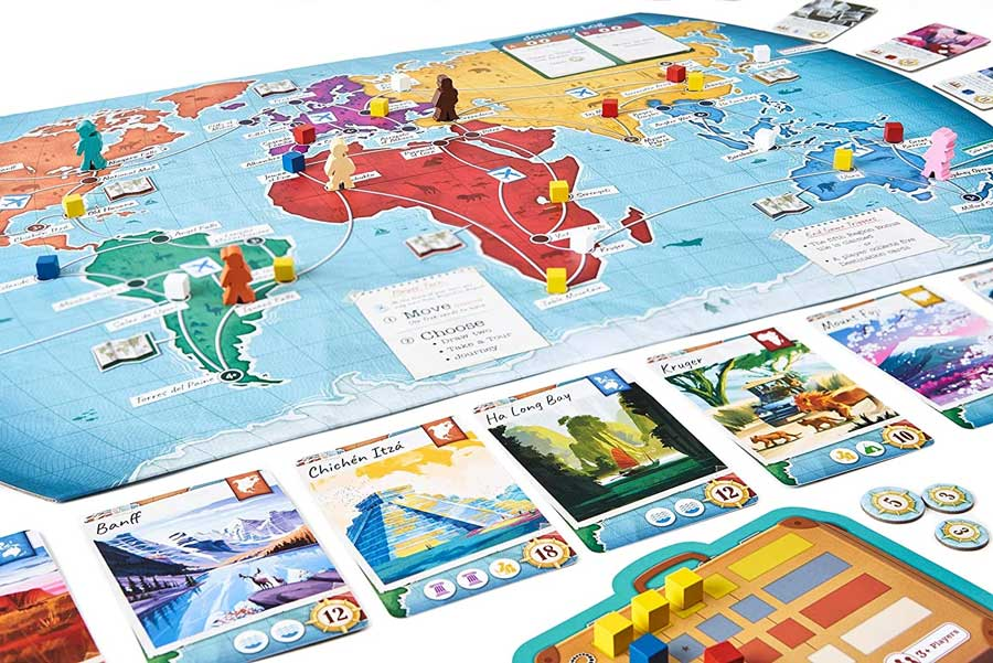 Trekking the world board game for travel lovers