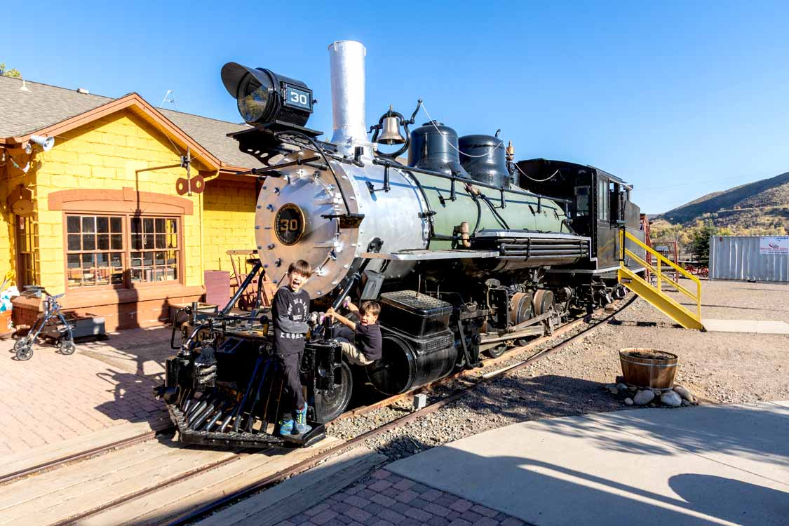 Kids playing at the Colorado Railroad Museum