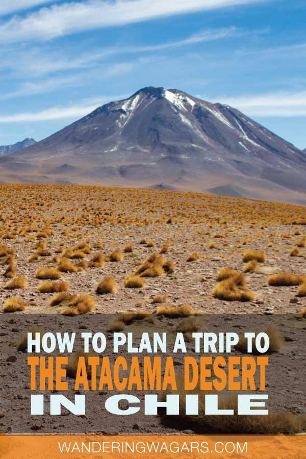 Mountains and fields in San Pedro de Atacama