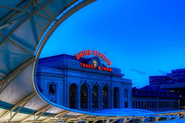 Denver train station, one of the best places to stay in Denver, Colorado