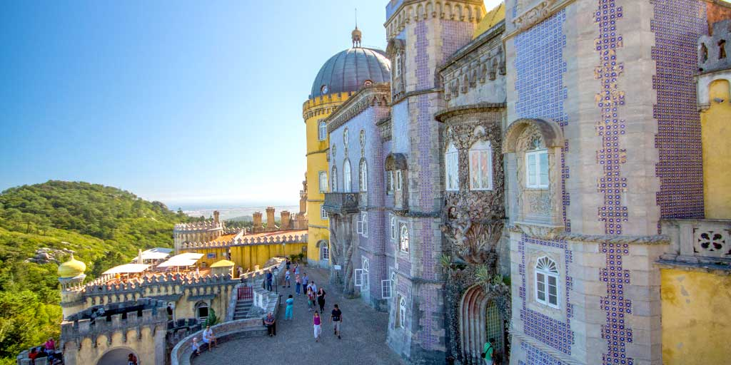 Pena Palace and the castles in Sintra Portugal