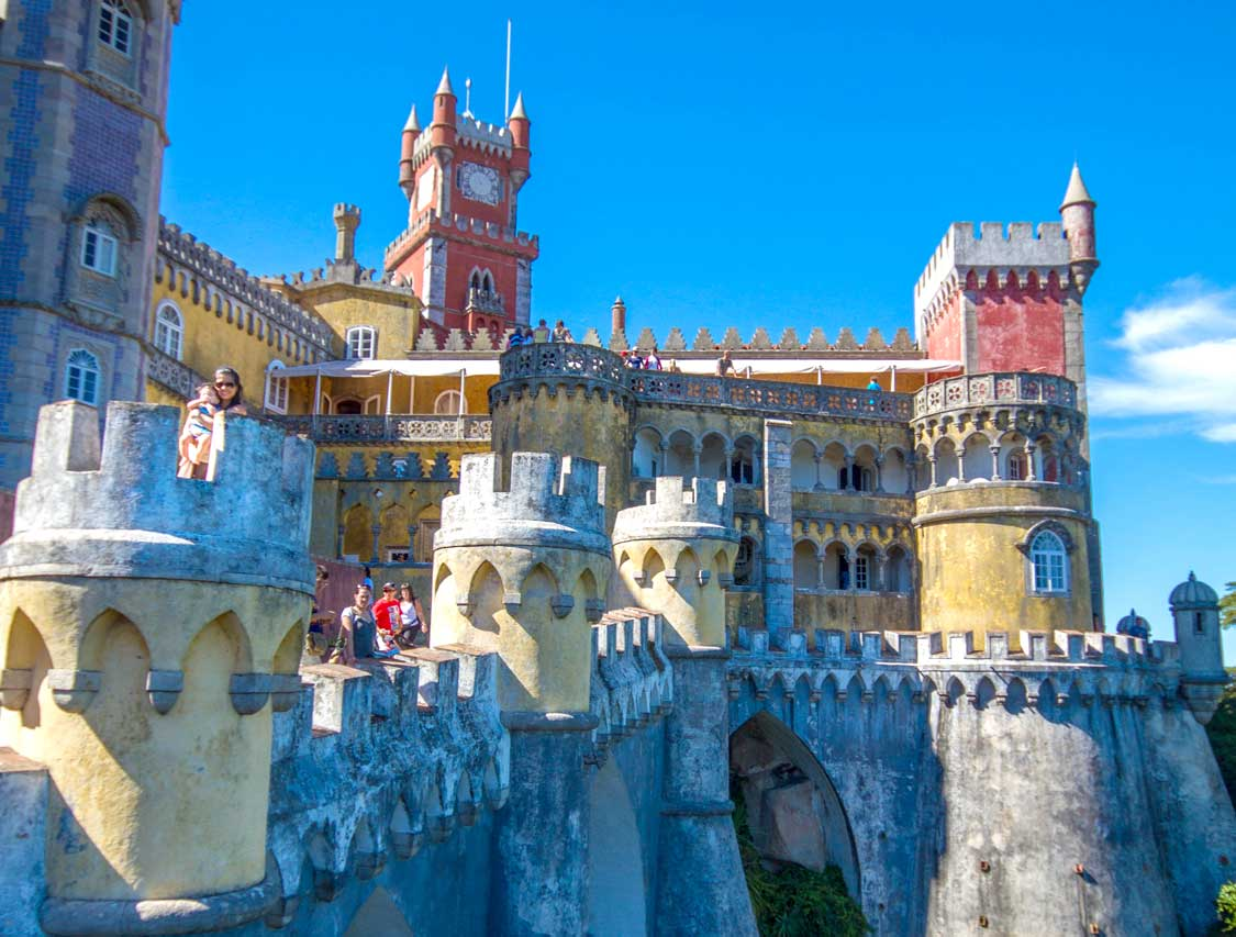 Pena Palace colorful Sintra Castle