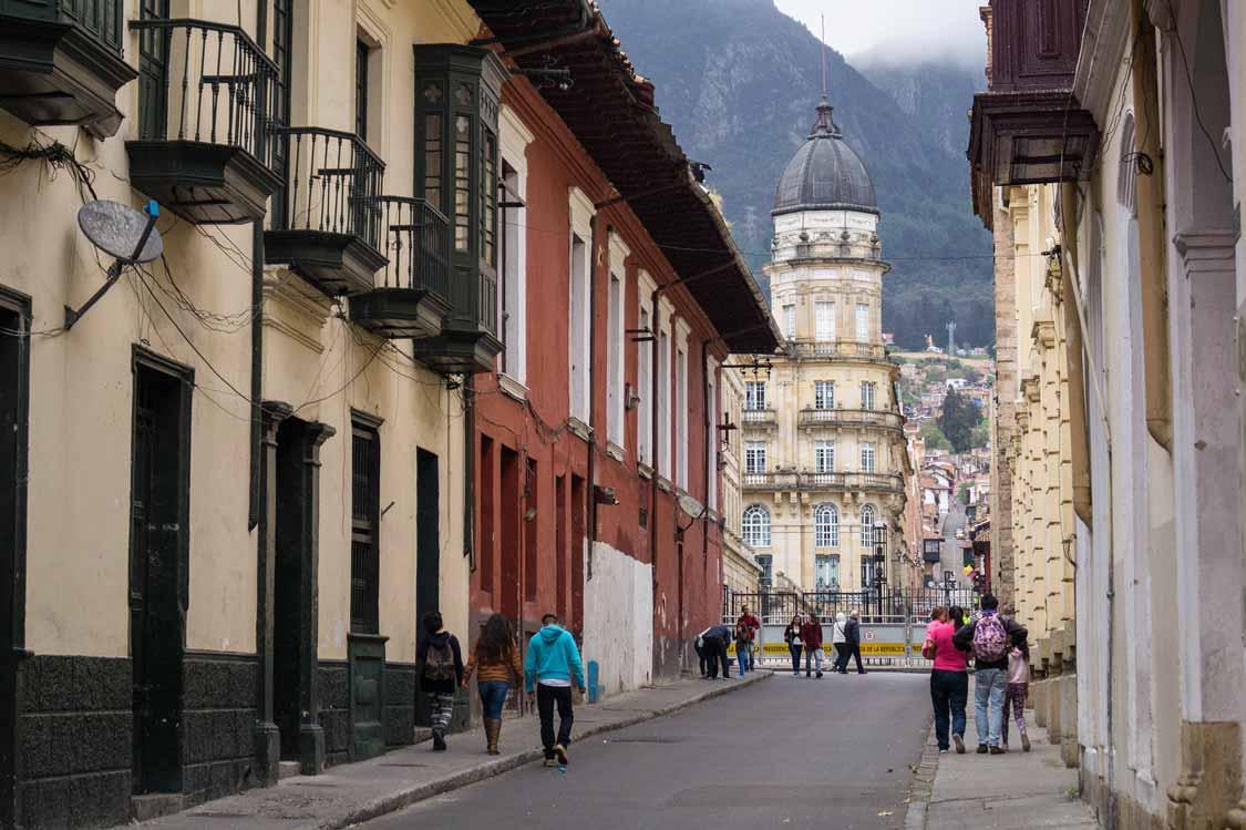 Neighborhood in Bogota, Colombia