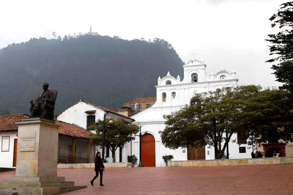 Monseratte in La Candelaria neighborhood in Bogota