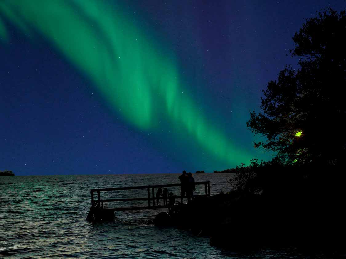 Northern Lights while camping on Manitoulin Island