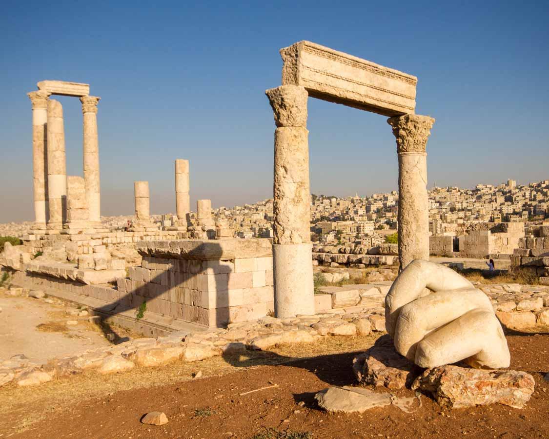 The hand of Hercules at the Amman Citadel