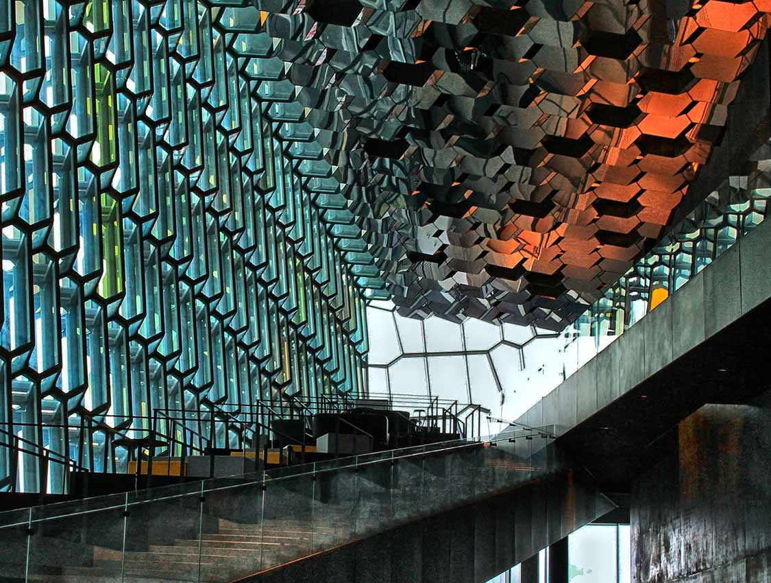 The magical architecture of Harpa in Reykjavik harbour