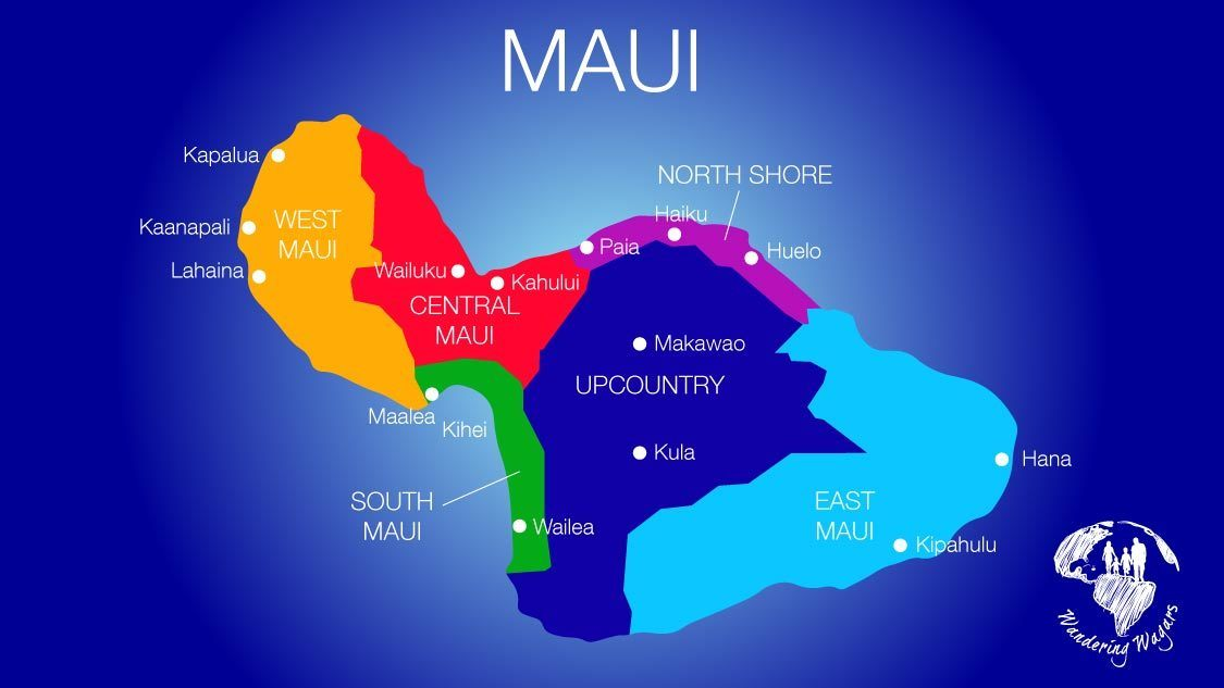 where to stay on Maui map