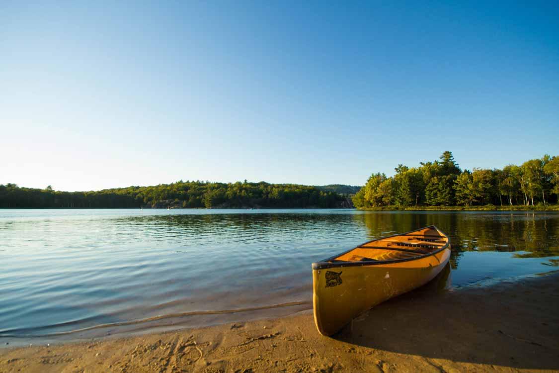 Canoe at Killarney Provincial Park