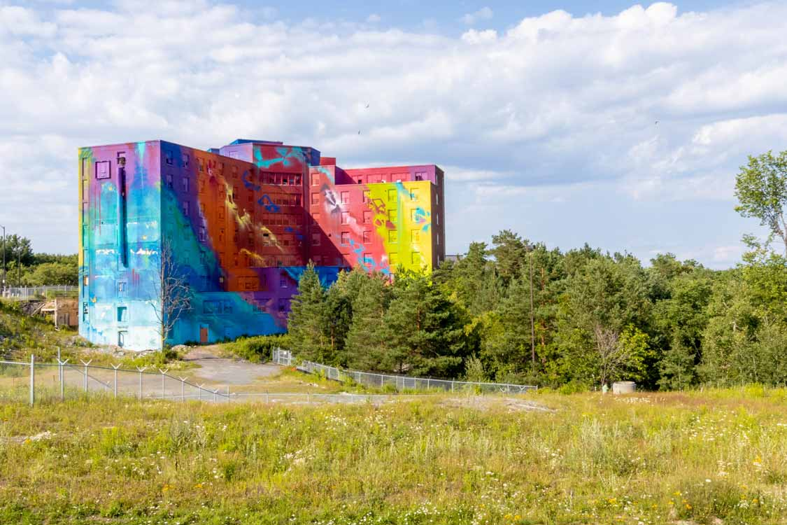 Canada's largest mural at Bell Park in Sudbury, Ontario