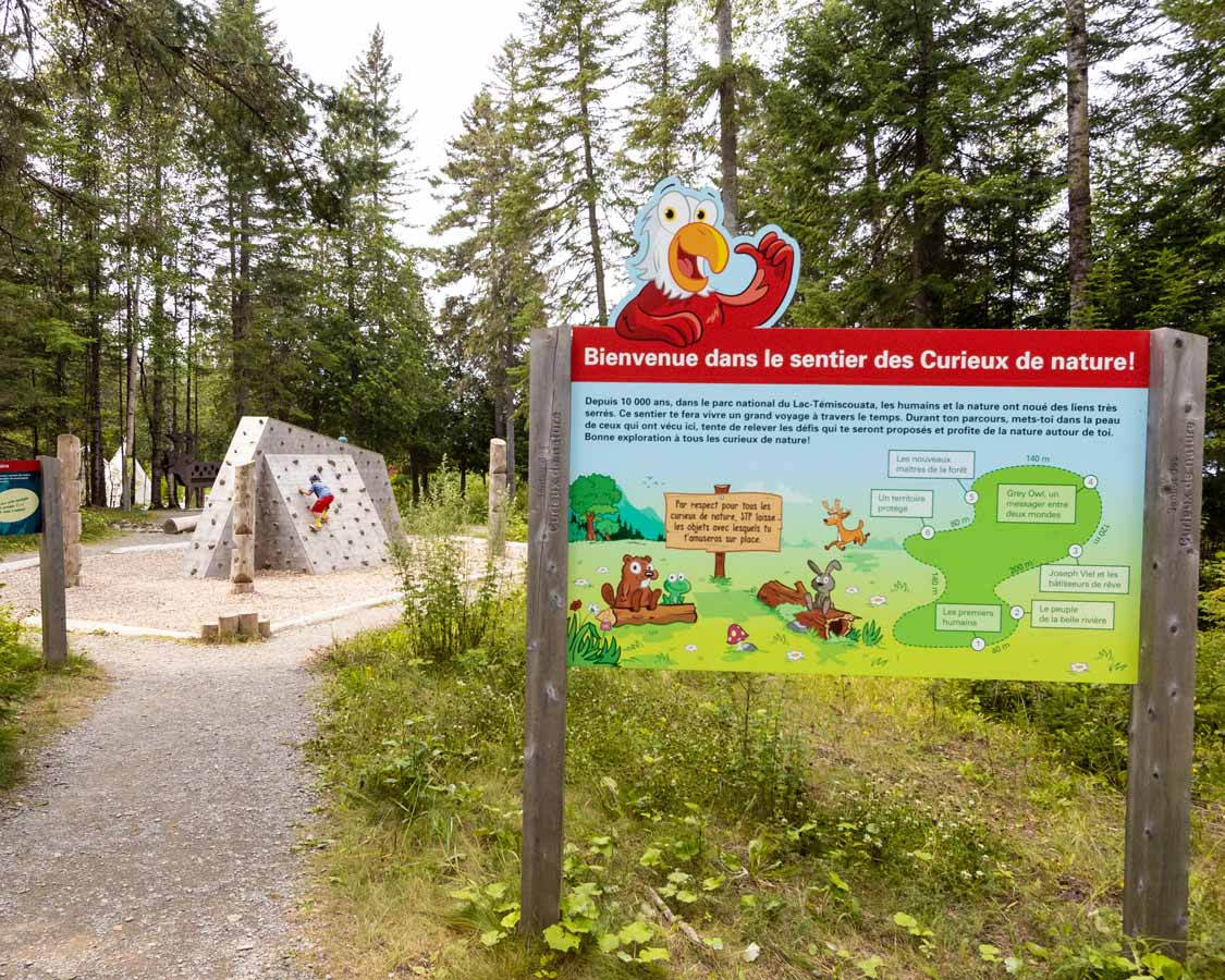 Kids nature trail in Lac Temiscouata National Park