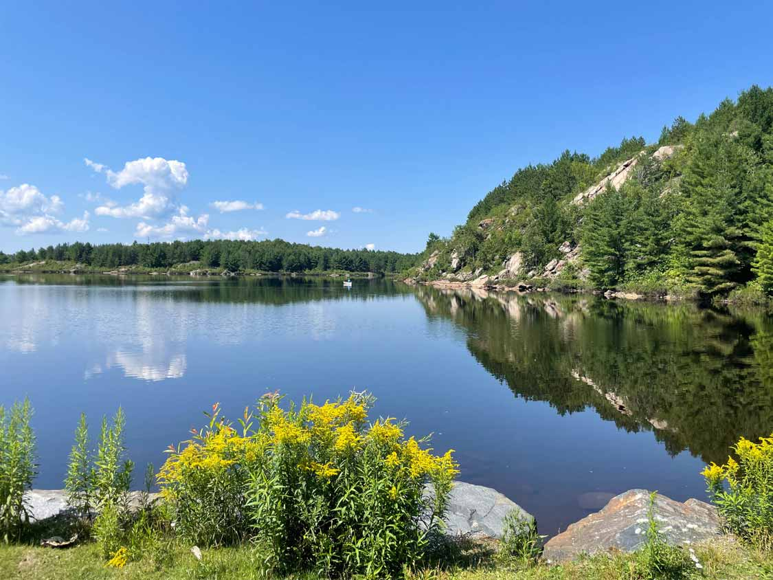 Reflections on Lake Laurentian Conservation Area