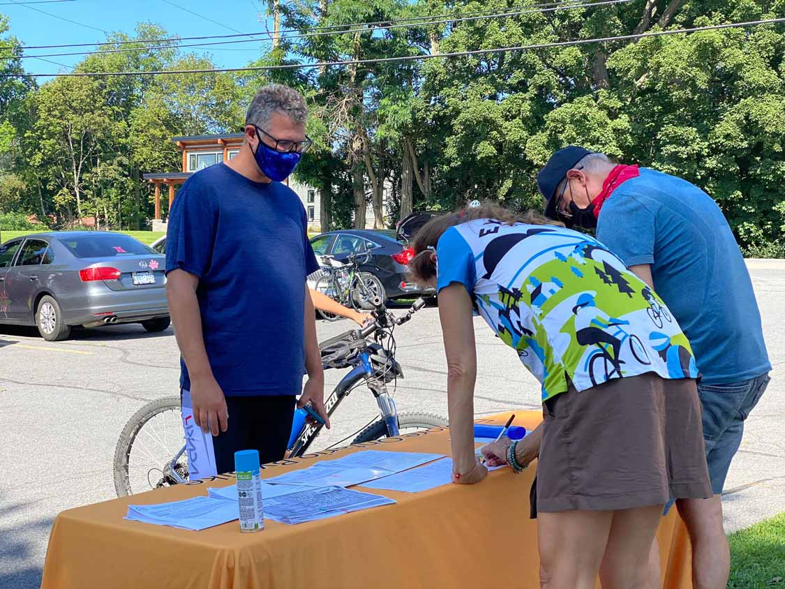Registering for Ontario by Bike