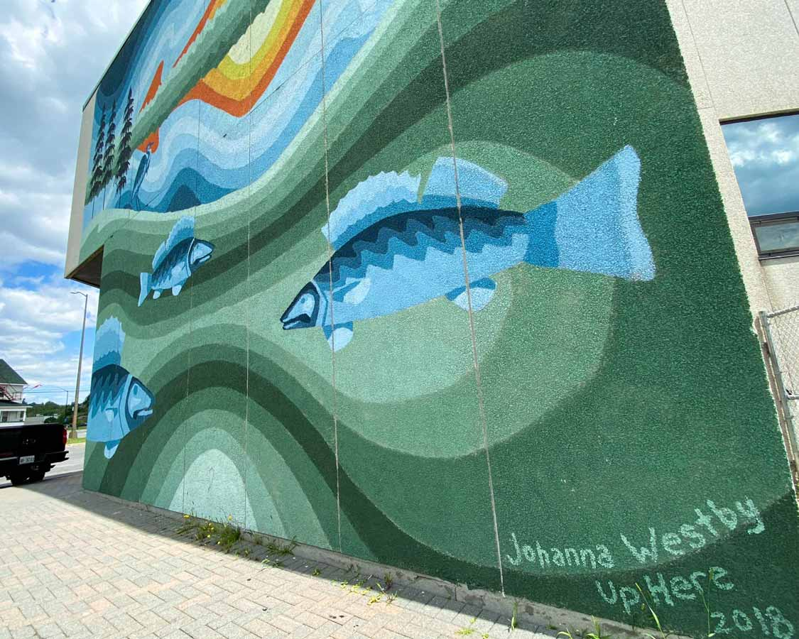 Up Here festival murals in Sudbury, Ontario